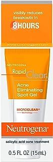 Neutrogena Rapid Clear Acne Eliminating Spot Treatment Gel with Witch Hazel and Salicylic Acid Acne Medicine for Acne-Pron...