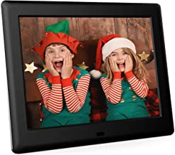 DBPOWER 8 Inch Digital Photo Frame - 1024x768 IPS HD Display Electronic Picture Frame with Calendar, Time, Auto Switch, Music, Slideshow, Video, Support 32GB USB Drives/SD Card, Remote Control