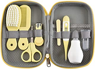 Baby Grooming Kit, Baby Care Items, Baby Care Essentials Set, Baby Supplies Set, 8PCS Baby Health Care Set Portable Baby Care Kit, Safety Cutter Baby Nail Kit for Newborn, Infant & Toddler(Yellow)