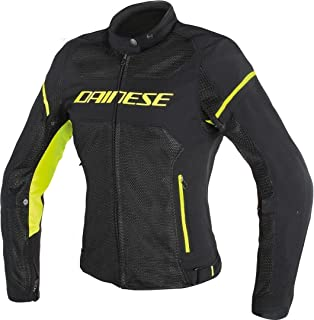 Dainese Air Frame D1 Lady Textile Motorcycle Jacket Black/Black/Fluorescent Yellow (EU 42/US 4)