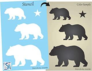 Best black bear stencil designs Reviews