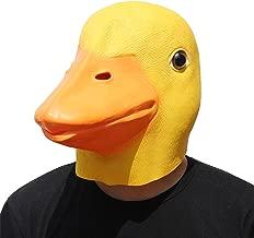 PartyHop - Duck Mask - Halloween Latex Animal Full Head Mask