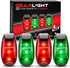 GearLight S1 LED Safety Lights [4 Pack] for Boat, Kayak, Bike, Dog Collar, Stroller, Runners and Night Running - Clip On, Strobe, Warning, Flashing, Blinking, Reflective Light Accessories