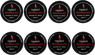 Kanthal A1 Wire Total 2000FT (8 Sizes)-22 24 26 28 32 36 38 40 AWG Gauge Spools