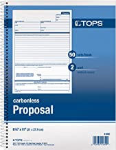 TOPS Proposal Books, 2-Part, Carbonless, Spiral-Bound, 50 Sets, 5 Books Per Box (41850)