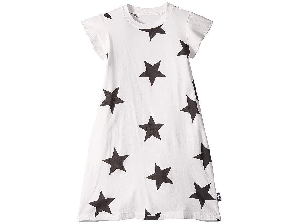 Nununu Star A Dress (Toddler/Little Kids) (White) Girl