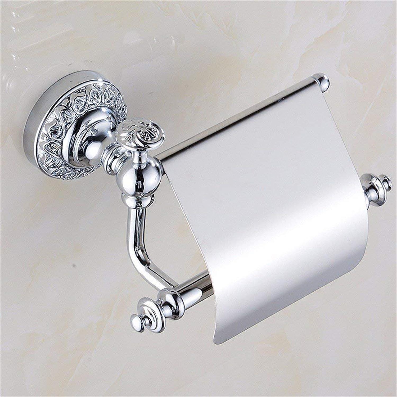 The Carved Set Chromium Copper Accessories of Bathroom Double Door Hook Toilet Paper,Paper Rack