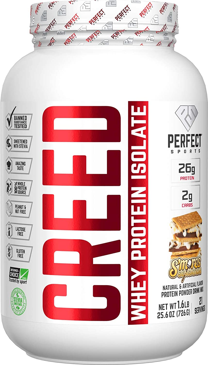 PERFECT Now free shipping Sports Creed 100% Whey Isolate 1 with Credence Stevia Sweetened