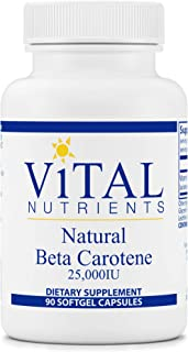 Vital Nutrients - Natural Beta Carotene - Precursor to Vitamin A - Antioxidant - Vision, Skin, and Reproduc...