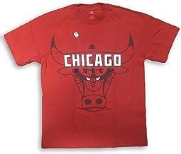 adidas Chicago Bulls Name Shadow Logo Adult Men's T-Shirt (Large)