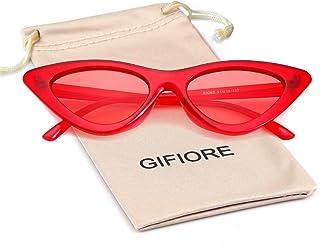 نظارات شمسية من Gifiore Retro Vintage Cateye للنساء نظارات شمسية بإطار بلاستيكي
