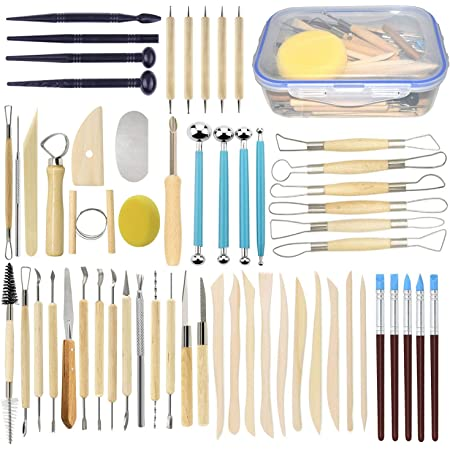 Atyhao Clay Cleaning Brush #1 Ceramic Clay Sculpting Tools Ceramic Pottery Clay Sculpting Tool Kit Sculpture Cleaning Set for Beginners and Professional Art Crafts