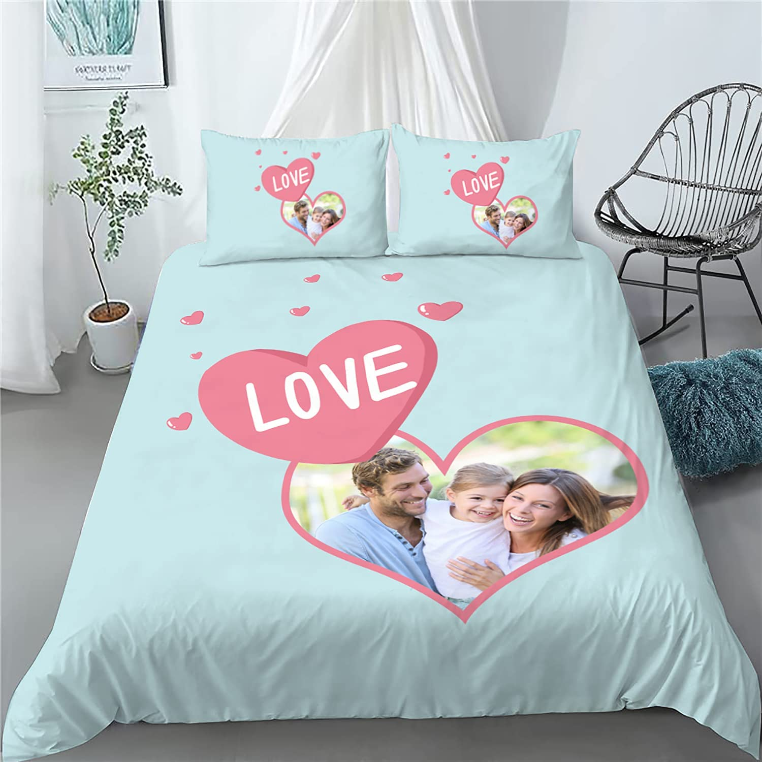 Custom Bed Set with Photo Comfor Sets Text Cover Sales results No. 1 Duvet Ranking TOP19