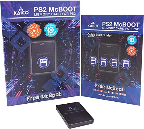 Kaico Free Mcboot 8MB PS2 Memory Card Running FMCB PS2 Mcboot 1.966 pour Sony Playstation 2 - FMCB Free Mcboot Your P...