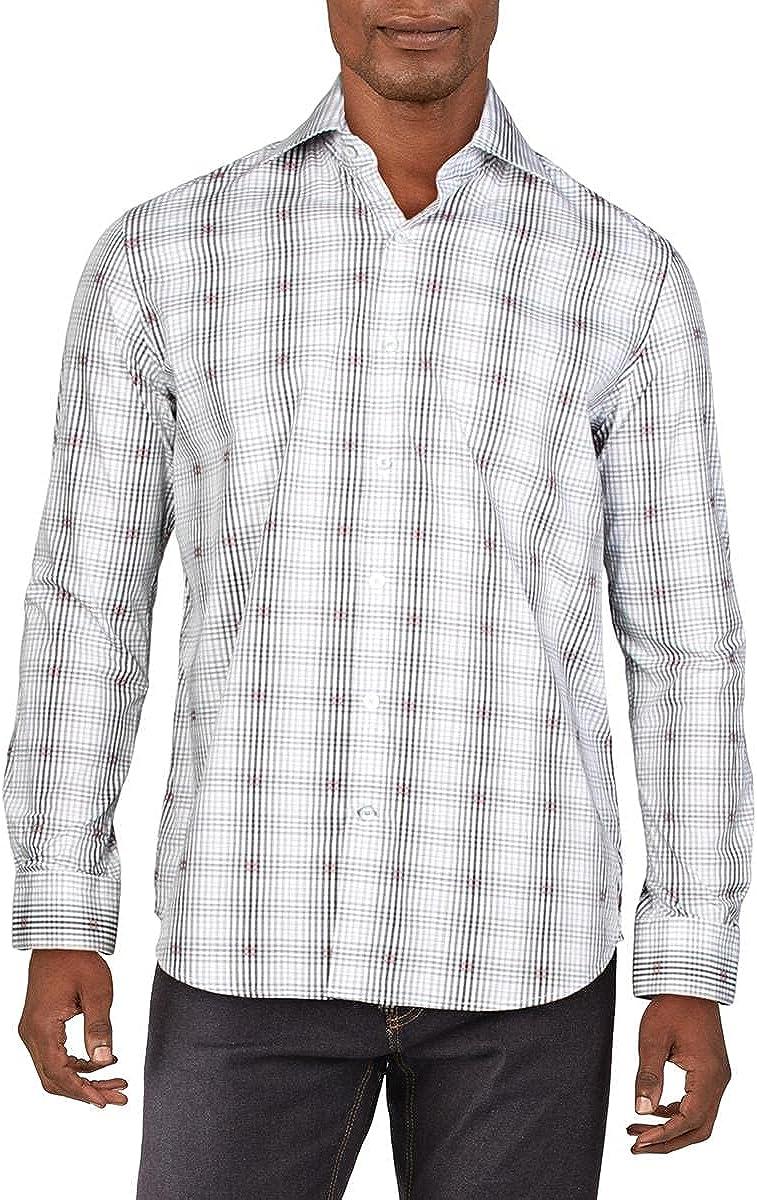Robert Graham Mens Altham Plaid Tailored Fit Button-Down Shirt