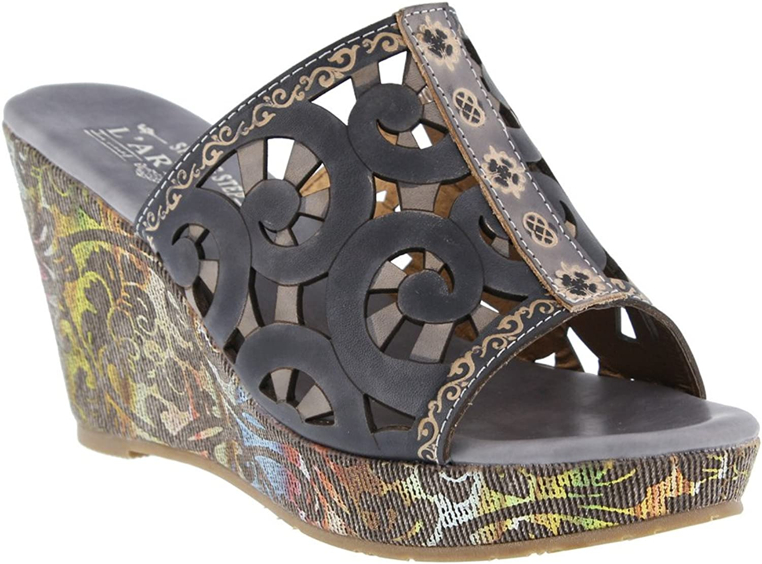 Spring Step Women's Zoe Black Multi sandals 38 M