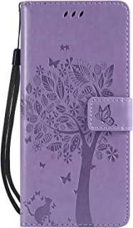 Povinmos Galaxy Note9 Case, Premium TPU Leather Wallet Case with Kickstand and Flip Cover for Samsung Galaxy Note 9 (Lavender)