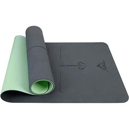 Yoga Mat SGS Certified TPE Environmental Protection Material Stretching /& Toning Workouts for Men /& Women indoor//outdoor Non-Slip Free Carry Pilates 72 X 24 X 1//4 Thick High Density Padding