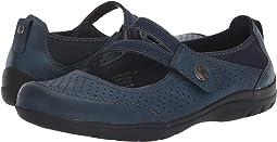 Navy Blue Vintage Leather