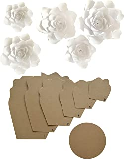 Paper Flower Template Kit - Make Your Own Paper Flowers - Paper Flowers Decoration - Make Unlimited Flowers - DIY Do It Yourself - Make All Sizes (Peony) - 3D Flower - Flower Backdrop Decor