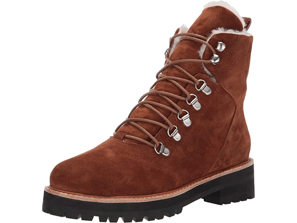 Sol Sana Harlan Boot (Burnt Tan Suede) Women's Lace-up Boots, Multi
