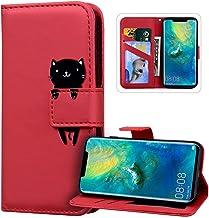 Etui Coque Huawei P40,Housse en Cuir Portefeuille Flip Case Antichoc TPU Coque Protection,JAWSEU Dessin Animé Motif acec F...