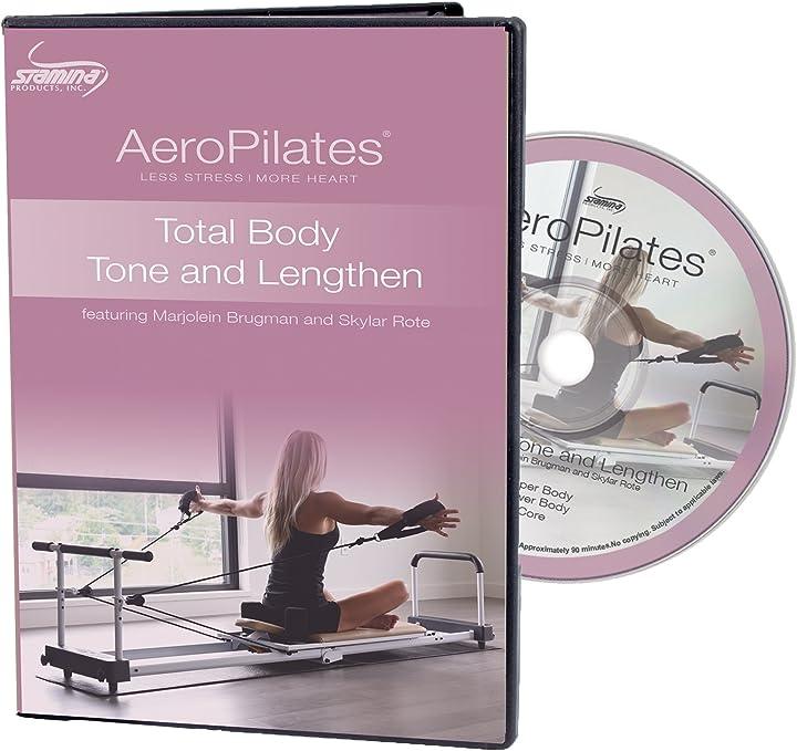 Aeropilates by stamina total body tone & allungare allenamento dvd (05-9135d)