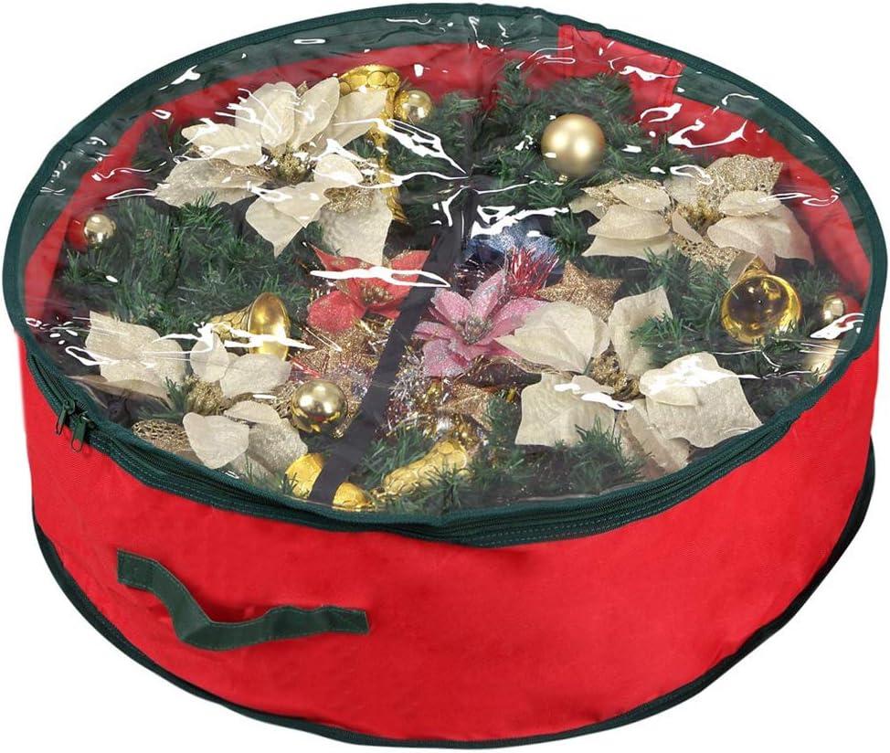 Soldering Primode Christmas Wreath Storage Bag Wreaths Conta Garland 36