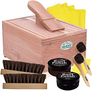 FOOTMATTERS Red Cedar Boot & Shoe Care Shine Box - Polish Kit