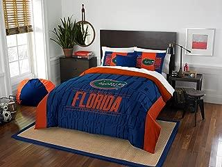 Florida Gators - 3 Piece FULL / QUEEN SIZE Printed Comforter & Shams - Entire Set Includes: 1 Full / Queen Comforter (86