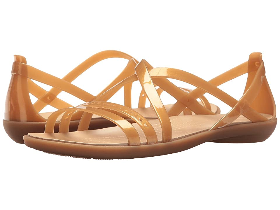 Crocs Isabella Cut Strappy Sandal (Dark Gold/Gold) Women