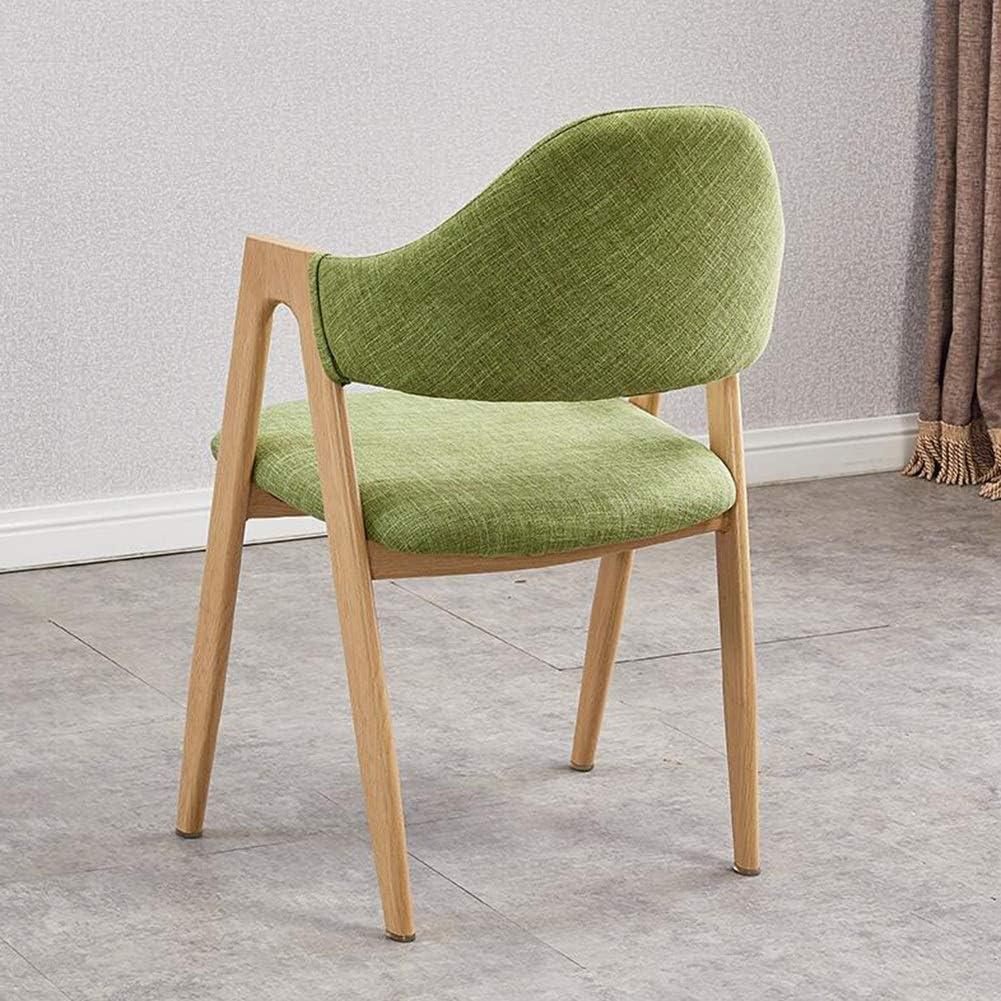 Dall Chaise De Salle À Manger Bois Massif Chaise De Table Simple Solide Chaise Longue Pieds en Acier Au Carbone 50x40x80cm (Couleur : Purple) Green