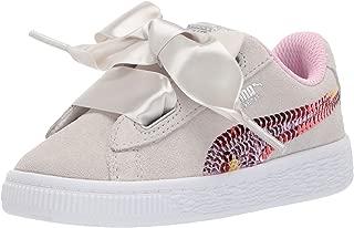 PUMA Unisex-Kids' Suede Heart Trailblazer Sequins Sneaker
