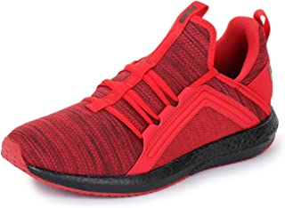 Puma Unisex-Child Mega Nrgy Heather Knit Jr Ribbon Red-PUM Sneakers