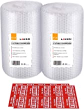 """Lekzai Bubble Cushioning Wrap Rolls, 12 Inch x 72 Feet (2 Roll), Perforated Every 12"""" for Packaging, 3/16"""" Small Bubble, Pack of 2."""