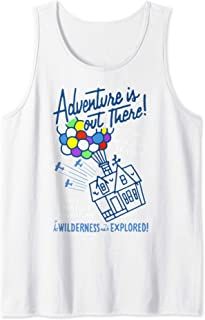 Pixar Up Adventure Is Out There Line Art Tank Top
