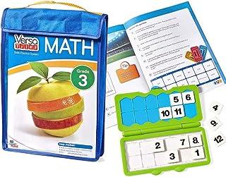 hand2mind - 85413 VersaTiles Math Practice Take Along Grade 3 Math Workbook, Math Puzzle For Kids, Independent Activities,...