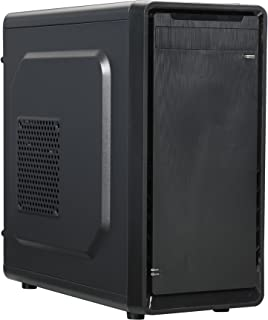 ROSEWILL Micro ATX Mini Tower Computer Case, Steel and plastic computer case with 1x 80mm rear fan, Top I/O ports: 1x USB3.0, 2x USB 2.0 and Audio In/Out ports (SRM-01)