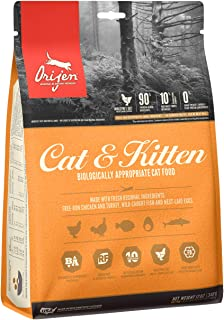 ORIJEN Cat & Kitten High-Protein, Grain-Free, Premium Quality Meat, Dry Cat Food