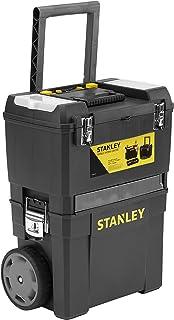 Stanley werkplaats op wielen (47,3 x 30,2 x 62,7 cm, twee apart bruikbare gereedschapskisten, robuuste kunststof, twee een...