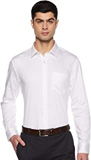 Amazon Brand - Symbol Men's Solid Slim fit Formal Shirt