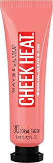 Maybelline Cheek Heat Gel-Cream Blush Makeup, Lightweight, Breathable Feel, Sheer Flush Of Color, Natural-Looking, Dewy Finish, Oil-Free, Coral Ember, 0.27 Fl Oz