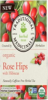Traditional Medicinals Tea Rose Hips Hibiscus Organic, 16 ct