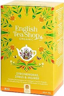 English Tea Shop Organic Lemongrass Ginger and Citrus Fruits Teabags