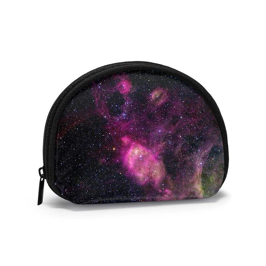 医師通行人習字小銭入れ メンズ 宇宙 星 紫色のスタイル コインケース 小さい財布 がま口 極小 レディース 親子 がま口でお札や小銭もたっぷり収納上手
