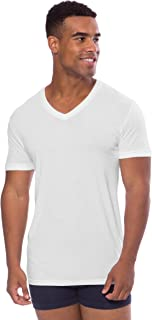 Texere Men's V-Neck Luxury Undershirt - Loungewear Tee in Bamboo Viscose (Meio)