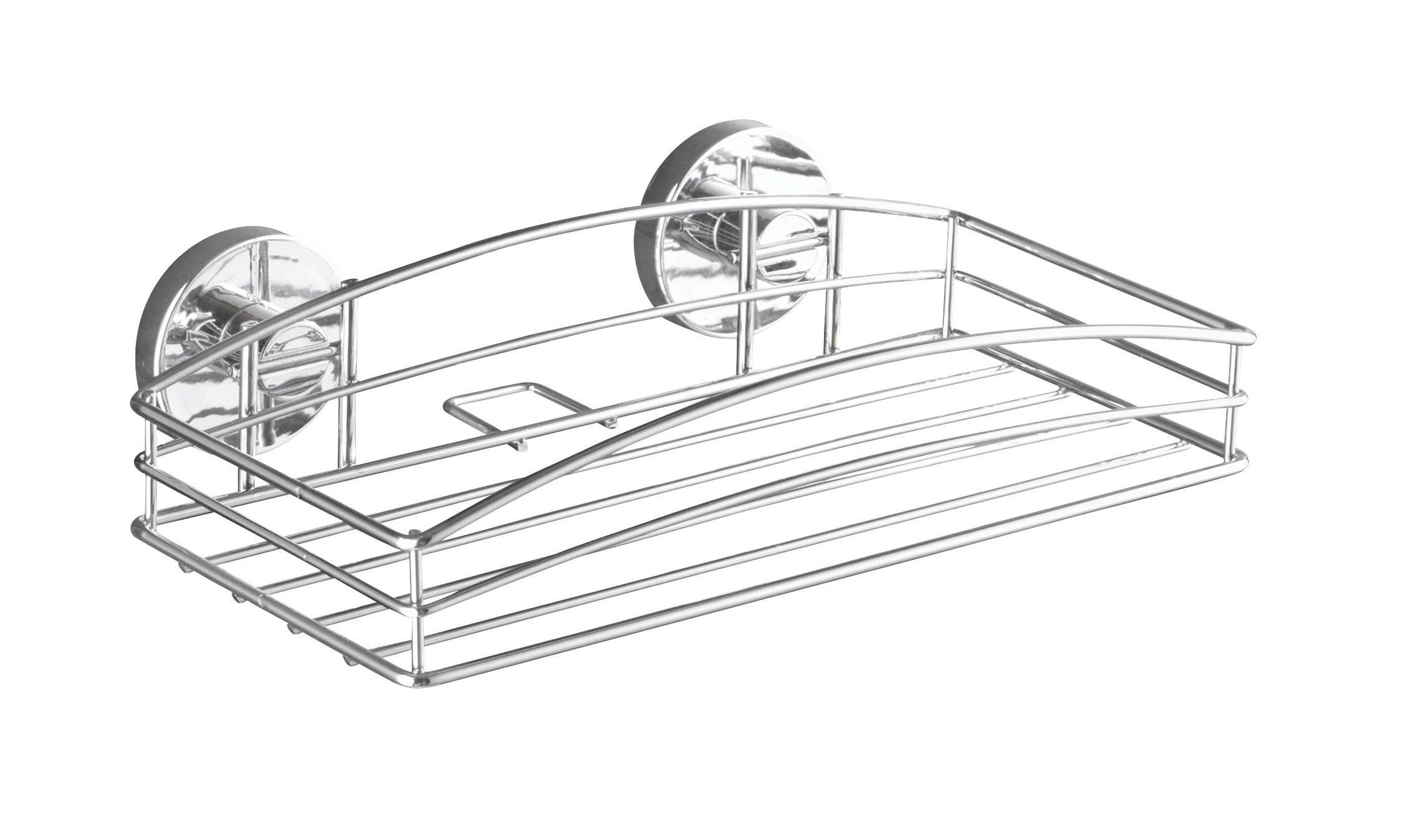 15x52x9 cm Acero Plateado Wenko Vacuum-Loc Milazzo Maxicesta