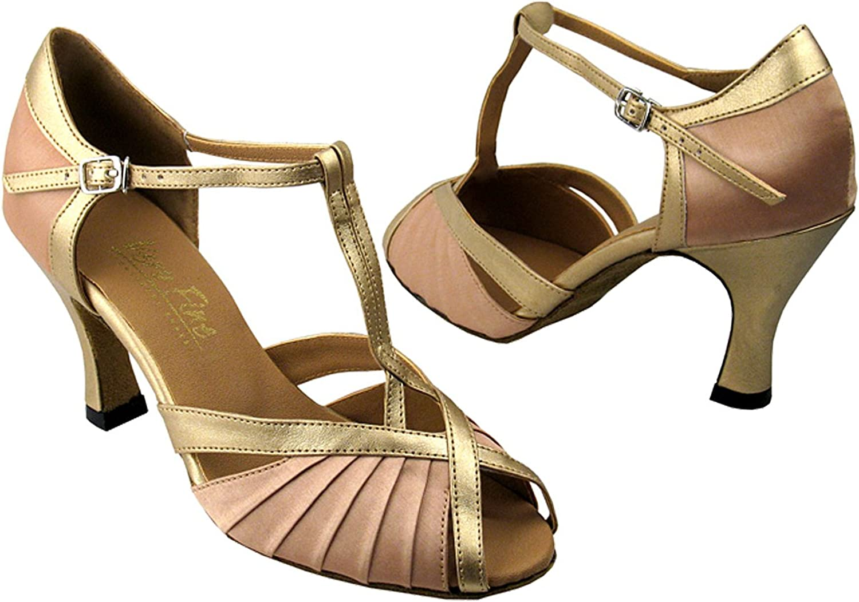 Very Fine Women's Salsa Ballroom Tango Latin Dance shoes Style 2707 Bundle with Plastic Dance shoes Heel Predectors
