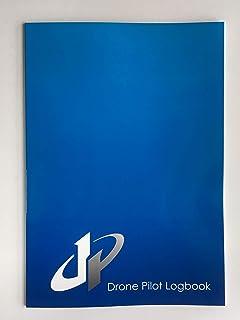 【1冊】ドローン操縦士専用 「ドローン パイロット ログブック(ブルー)」<飛行ログブック DRONE PILOT LOGBOOK>B5サイズ(30枚)ノート