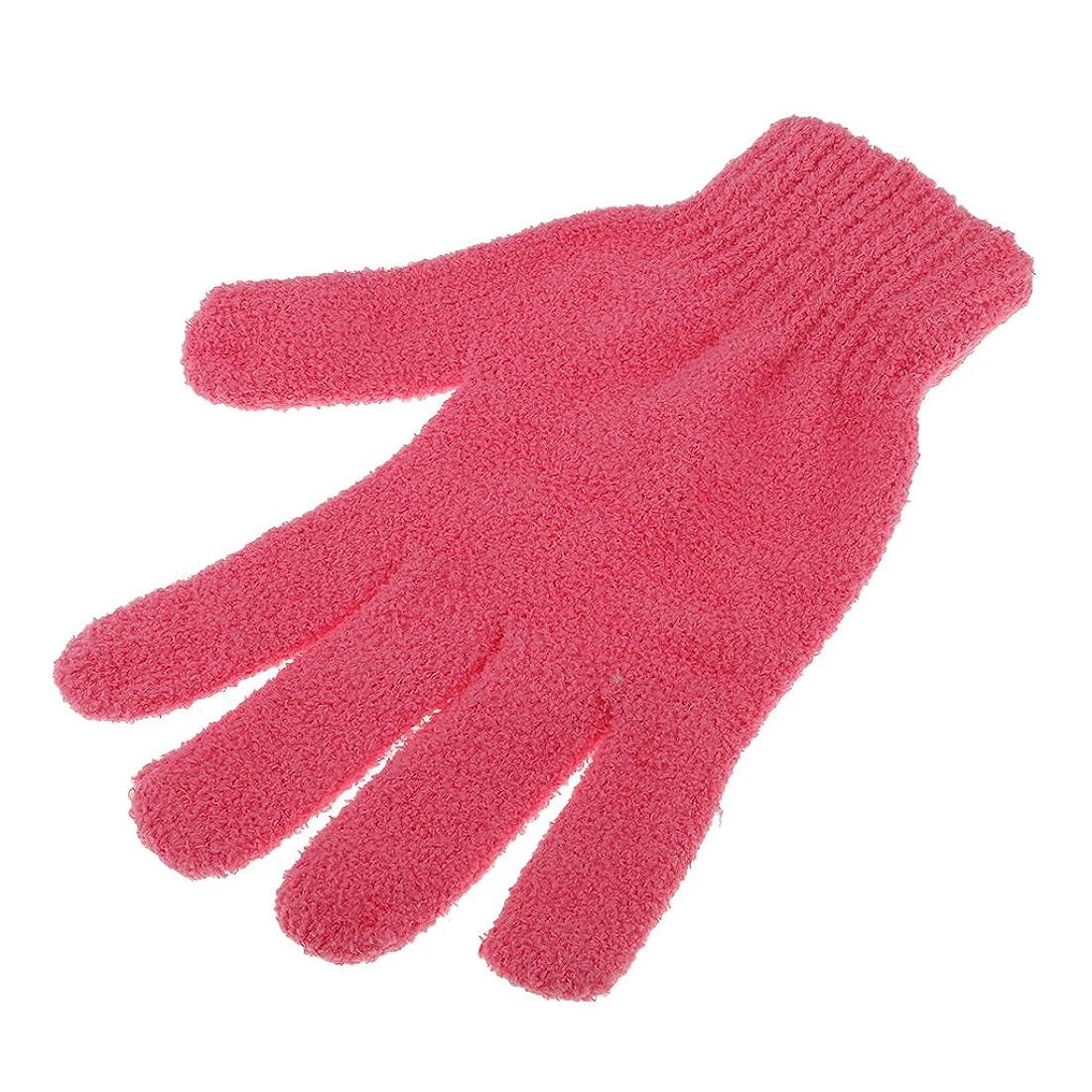 アクロバットセンターに渡ってHomyl 2種選べ 綿製 髪速乾タオル 髪用 家庭用品 風呂用品 シャワー 乾燥手袋 吸水性 速乾性  - 赤, 1枚